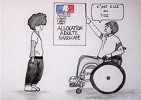 C'est toi ou l'AAH, dessin humoristique de Stéphanie Simon